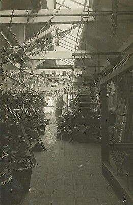 Social History, Interior Of Factory, Unknown Location, Photo Postcard