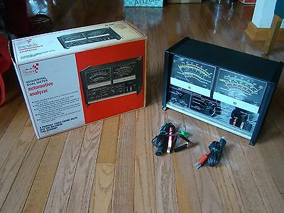 Vintage SEARS SEQUENTIAL DUAL METER AUTOMOTIVE ANALYZER with Box Model # 28 2182