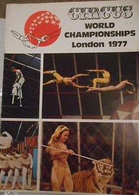 Circus World Championships Lonson 1977 Programme Mary Chipperfield