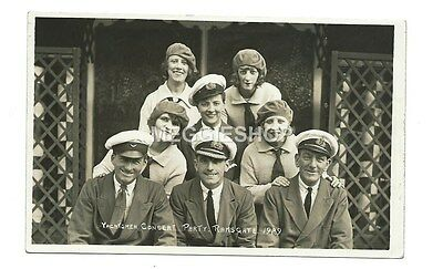 Kent: Ramsgate 1929 Yachtsmen Concert Party - Old Photo Postcard