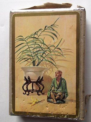 Vintage Congress Chinese Design Playing Cards Boxed Bridge Score Card