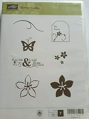 Stampin' Up *COTTAGE GARDEN * 7pc  Clear Mount Stamp. Retired.