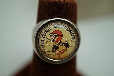 Vulture Squadron Dick Dastardly Muttley Adjustable Metal Photo Ring
