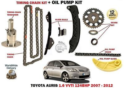 For Toyota Auris 1.6 Vvti 2007-2012 Timing Chain Tensioner Kit + Oil Pump Kit