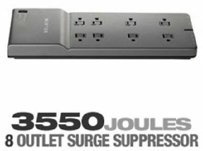 BELKIN 8-Outlet - 3550 Joules - 6 ft. Low-Profile Cord Surge Protector - BE10823