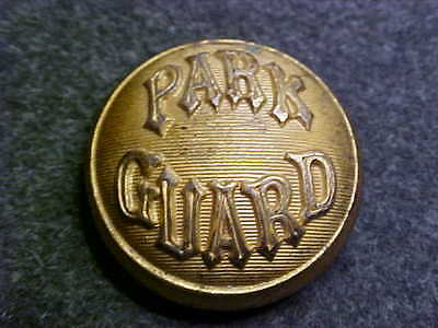 Rare 1800`s Park Guard Domed Brass 7/8 Uniform Coat Button Marked Extra Quality