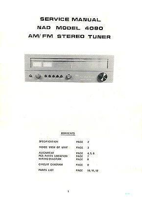 Nad 4080 Tuner Fm Am Service Manual Complete