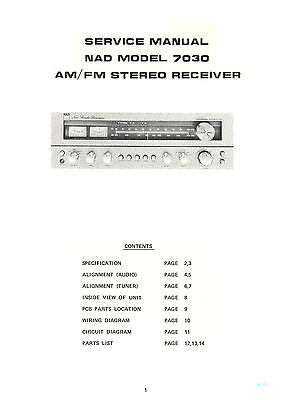 Nad 7030 Sintoamplifier Fm Am Service Manual Complete