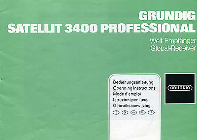 Grundig Satellit 3400 User Manual