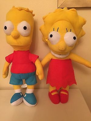 THE SIMPSONS 12 Inch Plush BART & LISA OFFICIAL PRODUCTS