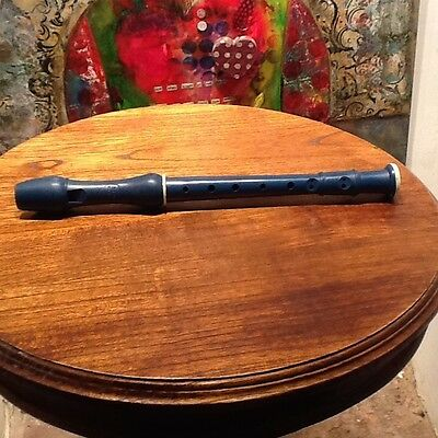 Vintage 1960's Recorder, Blue, made by Selcol, Descant C