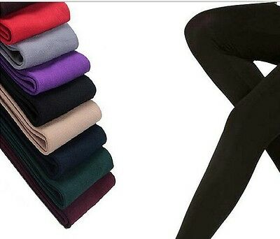 Women's Fleece Lined Thermal Leggings One Size Winter Warm Stretchy 8 Colors
