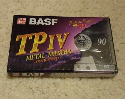 BASF TP IV Metal Maxima - Blank Audio Cassette Tape *NEW & Sealed*
