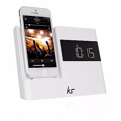 Kitsound XDOCK 30 PIN Clock Radio Docking Station For iPhone 4S- New