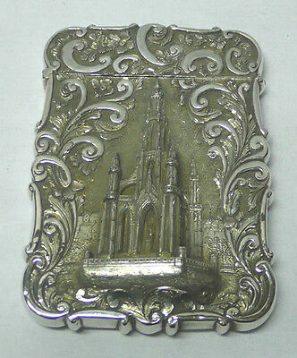 Antique Silver Card Case 1886 stock id 7481