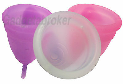 Reusable Menstrual Cup Soft Silicone Latex Free, Uk Seller!
