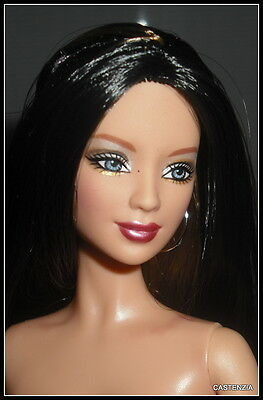 Nude Barbie Hard Rock Strawberry Brunette Blue Eyes Model Muse Doll For Ooak