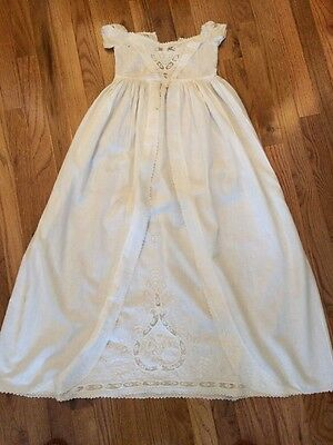 Antique Christening Gown Embroidered Lace Late 1800's ?
