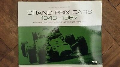 Castrol series of grand prix cars 1948- 1967 Framed pictures