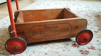 RETRO VINTAGE TRI-ANG BABY WALKER ~ TRIANG CHILDRENS WOODEN TOY 1950s