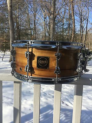 RARE GMS SOLID SHELL SNARE DRUM. MYRTLE POND WOOD, Limited SE, 6.5x14 High Gloss