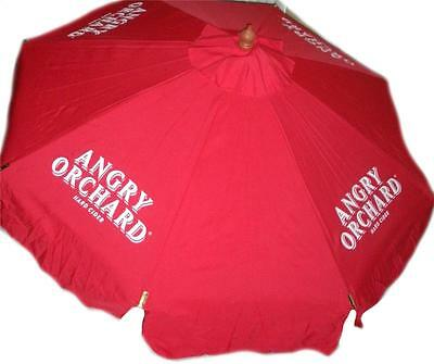 Angry Orchard Apple Cider Beer Patio Table Wood Red Umbrella 7 Ft Market New