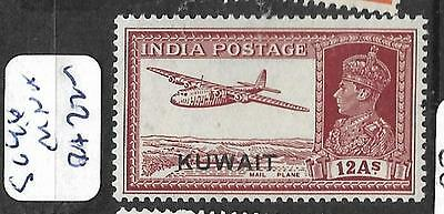 Kuwait (Pp0802B) On India   Kgvi 12A Airplane     Sg 46   Mnh