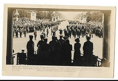 POSTCARD - THE GREAT VICTORY MARCH - Peace Day London 1919