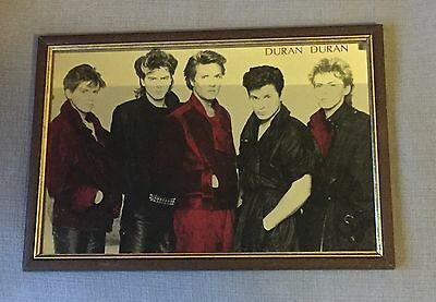 Duran Duran Vintage Picture Mirror 1980's New Romantic In A Good Condition