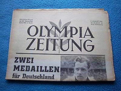 Orig.PRG / Newsletter  Olympic Games BERLIN 1936 - 04.08. / all Events  !!  RARE