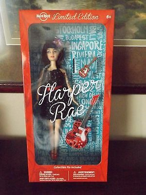 NIB! HARPER RAE Guitarist Collector PIN Hard Rock Limited Edition Doll