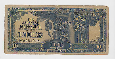 Malaysia - Japanese Occupation - WWII - 1942-44, 10  dollars