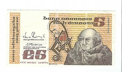Ireland - Five (5) Shillings, 1991