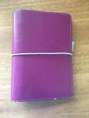 Filofax Domino personal organiser in plum. used