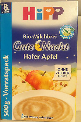 Hipp Organic Baby Food, Milk pudding Oats & Apple, From 8 Months, FREE post
