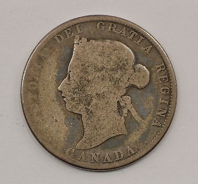 1874 Canada 25 Cents Silver Foreign Coin *Q26