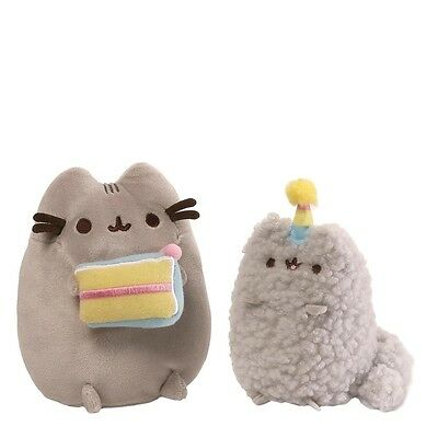 NEW OFFICIAL GUND Pusheen and Stormy Birthday Plush Soft Toy Set 4059126