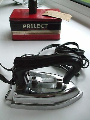 Prilect Vintage Travel Iron Complete with Original Tin