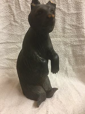 ~~ Large Black Forest Bear With Glass Eyes ~~