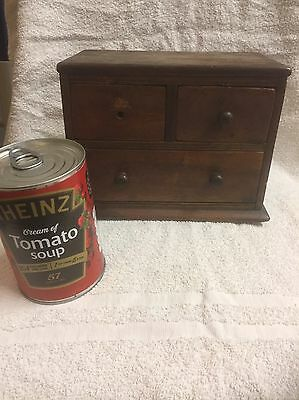 ~~ Antique 3 drawer miniature chest of drawers ~~