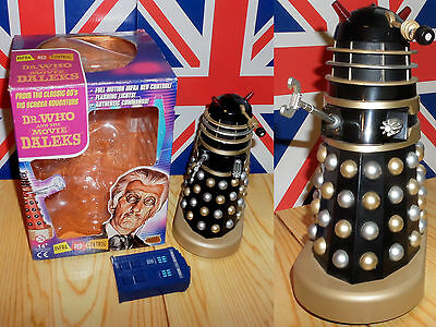 Remote Controlled DR.WHO and the DALEKS Movie BLACK + GOLD Dalek FAULTY