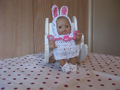 "Bunny Romper Set For 5"" To 6"" Ooak/reborn Berenguer Doll"