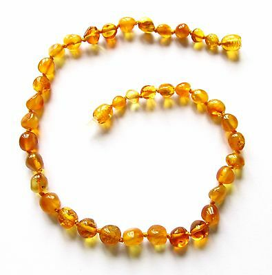 Genuine Baltic amber necklace child children amber baby to teen size honey beads