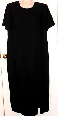 MAGGY LONDON Woman Black Dress PLUS size 22 sheath lined Dry Clean only