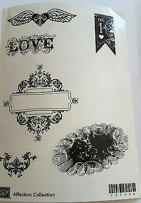 Stampin' Up!*Affection Collection* 6 pc Rubber Stamp Set, Unmounted. RARE.