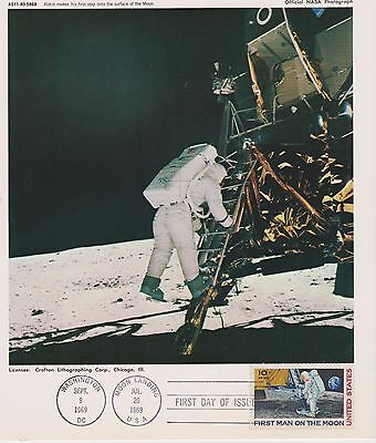C76 Apollo 11 1969 Lunar Landing 12 Official NASA Photo Set FDOI Mint Condition