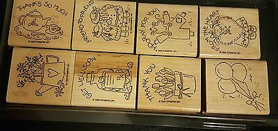 Stampin' Up!*Nice and Easy Notes* Rubber Stamp Set, Mounted. Retired 1996
