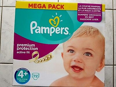 72 Couches pampers taille 4+ Remise en 91280