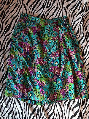 Amazing 80s Vintage SILK shorts Culottes Wrap Around 10
