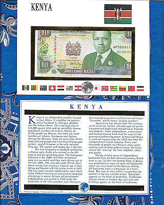 E Banknotes of All Nations Kenya 1991 10 Shilingi P24c AUNC AP5504118